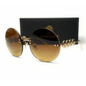 Versace Women's Gold and Brown Gradient Sunglasses